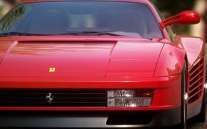 Picture Red, Auto, Machine, Ferrari, Car, Rendering, The front, Testarossa, Ferrari Testarossa, Transport & Vehicles, Justin …