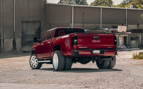 Picture design, color, car, rear view, the front, GMC, 3500 6