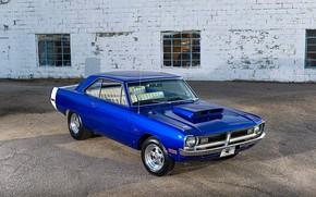 Picture Muscle, Dodge, Car, Blue, Dart