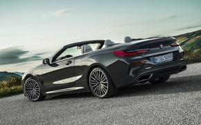 Picture the sky, asphalt, BMW, convertible, xDrive, G14, 8-series, 2019, Eight, M850i Convertible