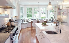 Picture room, interior, kitchen, light, dining room