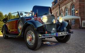 Picture auto, retro, photo, Mercedes-Benz, Cabriolet, Retro, 1936, 290 B