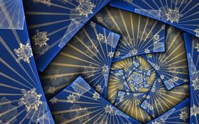 Wallpaper blue, pattern, figure
