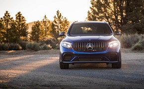 Picture Mercedes-Benz, front view, AMG, crossover, GLC 63, 4MATIC+