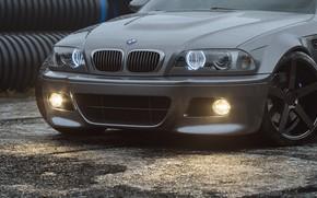 Picture Auto, BMW, Machine, Grey, Car, Render, Silver, E46, BMW M3, The front, BMW M3 E46, …