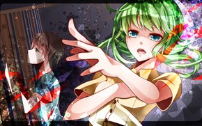 Picture girl, anime, art, guy, Vocaloid