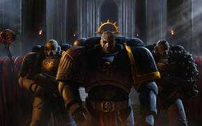 Picture soldiers, armor, Warhammer, art, Warhammer 40k, Space Marines, adeptus astartes