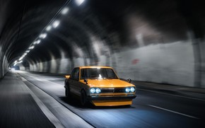 Picture Auto, Machine, Orange, Nissan, GT-R, The tunnel, 2000, Skyline, Nissan Skyline, Rendering, 2000 GT-R, Nissan …