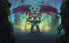 Picture stones, the demon, statues, the roots of the tree, Hearthstone Heroes of Warcraft, Hearthstone Heroes …