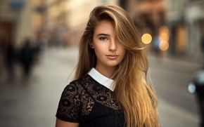 Picture look, girl, street, hair, blonde, hairstyle, Lods Franck, Meline