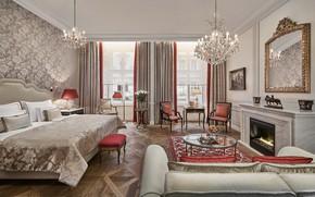 Picture room, interior, fireplace, Vienna, Bel Etage Deluxe, Hotel Sacher
