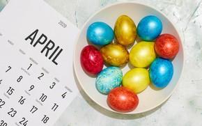 Picture sheet, eggs, spring, Easter, calendar, Easter