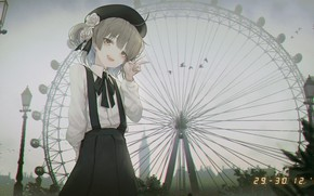 Picture girl, Ferris wheel, date, hatoba tsugu, seol