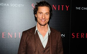 Picture smile, background, actor, Matthew McConaughey