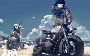 Picture girls, bikers, motorcycles, guy