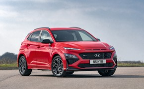 Picture red, Hyundai, crossover, Kona, Hyundai, Кона
