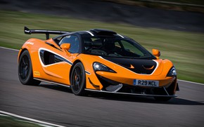 Picture coupe, McLaren, on the track, 2020, V8 twin-turbo, 620R, 620 HP, 3.8 L.