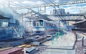 Picture train, art, train station