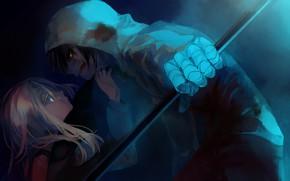 Picture anger, girl, braid, guy, rachel gardner, isaac foster, satsuriku no tenshi