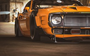 Picture Ford, Shelby, GT500, Auto, Yellow, Headlight, Retro, Machine, Orange, 1969, Car, Car, Render, Muscle car, …