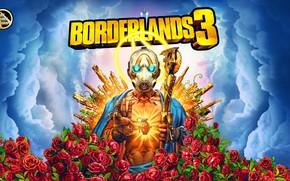 Picture Guns, Borderlands, Vault, Psycho, Roses are Red, Borderlands 3, Mayhem is Coming, BL3, Vault Symbol