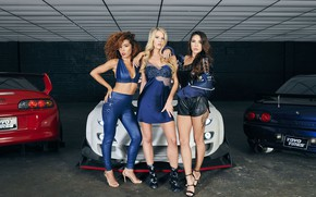 Picture auto, look, Girls, Mazda RX-7, beautiful girls, Alyshia Barragan, posing over cars, Stacey Hash, Laura …