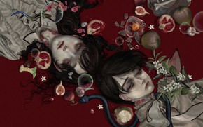 Picture bones, vampires, tears, garlic, blood, the guy with the girl, a poisonous snake, rotten, bites, …