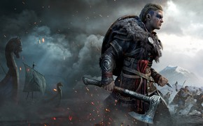 Picture Axe, Warrior, Assassin's Creed, Assassin's Creed Valhalla, Shaved