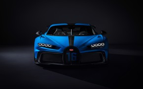 Picture Bugatti, front view, hypercar, Chiron, 2020, Pur Sport