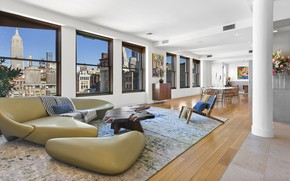 Picture space, interior, New York, megapolis, living room, Flatiron, Corcoran, 32 West 18th Street, table\, Apt. …