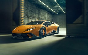 Picture speed, Lamborghini, front view, 2018, Performante, Novitec, Huracan