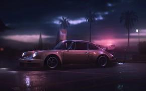 Wallpaper Auto, 911, Porsche, Machine, Art, Porsche 911, Carrera, RSR, Side view, Synth, Game Art, Porsche ...