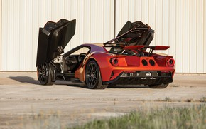 Picture Ford, door, supercar, Ford GT, rear view, 2017, H063, Beryllium Orange