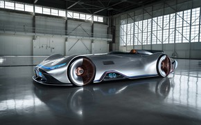 Picture the concept car, silver arrow, Mercedes-Benz EQ Silver Arrow, electric car