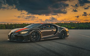Picture sunset, Prototype, the evening, Bugatti, supercar, hypercar, Chiron, 2019, Super Sport 300+