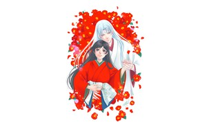 Picture girl, romance, art, Rin, Inuyasha, Inuyasha, Seshoumaru