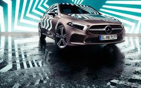 Picture transport, car, Mercedes Benz, zigzag, A-Class Sedan