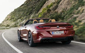 Picture road, BMW, convertible, feed, 2019, BMW M8, M8, F91, M8 Competition Convertible, M8 Convertible