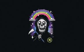 Picture Minimalism, Rainbow, Death, Art, by Vincenttrinidad, Vincenttrinidad, by Vincent Trinidad, Vincent Trinidad, Kawaii of death …