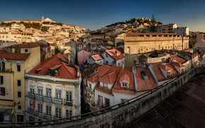 Picture home, roof, panorama, Portugal, Lisbon