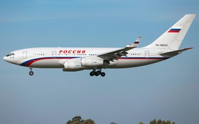 Wallpaper the plane, passenger, long-haul, The Il-96-300