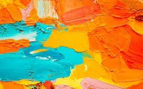 Picture paint, oil, palette