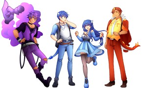 Picture girl, guys, Pokemon, Pokemon, pokemon, humanitaria