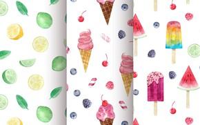 Picture background, texture, ice cream, dessert, pattern, Ice cream
