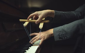Picture the game, piano, music