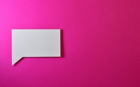 Picture Paper, Wallpaper, Message, Pink background