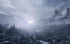 Picture winter, snow, landscape, the wind, Resident Evil, Resident Evil 8: Village