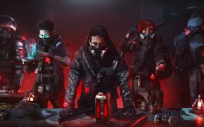 Picture people, gang, masks, Tom Clancy's The Division 2