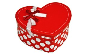 Picture love, box, gift, romance, heart, bow, Valentine's Day