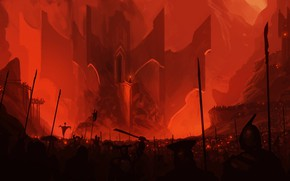 Picture Angband, Silmarillion, orcs, Morgoth